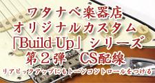ワタナベ楽器店オリジナルカスタム「Build-Up」シリーズ 第2弾 カスタムショップ配線