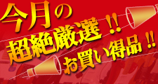 今月のお買い得品!! 【ワタナベ70周年感謝祭!】