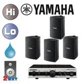 YAMAHA ( ヤマハ ) VS4 ブラック (2ペア) 屋内・野外BGMセット(MA2030a)