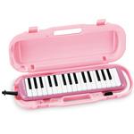 SUZUKI ( スズキ ) MXA-32P 鍵盤ハーモニカ 32鍵 メロディオン ピンク アルト 吹き口 立奏唄口 ホース (MP-121) 卓奏唄口 (MP-113) ケース リード 鍵盤 楽器