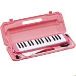 KC ( キョーリツコーポレーション ) P3001-32K Sakura ピンク鍵盤 32鍵 鍵盤ハーモニカ メロディー ピアノ 立奏用唄口 卓奏用パイプ ケース 鍵盤同色 サクラ Melody Piano 一部地域送料追加