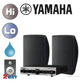 YAMAHA ( ヤマハ ) VXS5 (ブラック/1ペア) 屋内・野外BGMセット(MA2030) ◆ セット内容 MA2030 (1台)  VXS5 (1ペア)