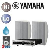 YAMAHA ( ヤマハ ) VXS5W (ホワイト/1ペア) 屋内・野外BGMセット(MA2030a) ◆ セット内容  MA2030a (1台)  VXS5 W (1ペア)