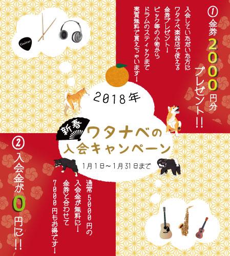 1月のキャンペーン | 京都音楽教室