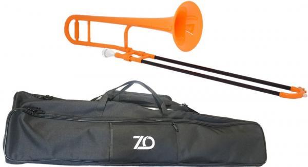 ZO ( ゼットオー ) トロンボーン TTB-11 オレンジ 新品 アウトレット プラスチック 細管 テナートロンボーン 管楽器  tenor trombone orange 北海道 沖縄 離島不可