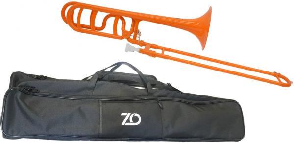 ZO ( ゼットオー ) トロンボーン 太管 TB-11 オレンジ 調整品 新品 プラスチック製 B♭/F テナーバストロンボーン tenor bass trombone orange 北海道 沖縄 離島不可