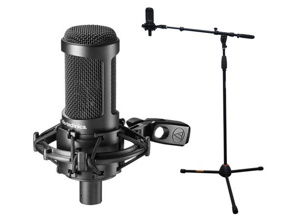 audio-technica ( オーディオテクニカ ) AT2050 お買い得SPセット ◆ コンデンサーマイク + マイクスタンド セット販売