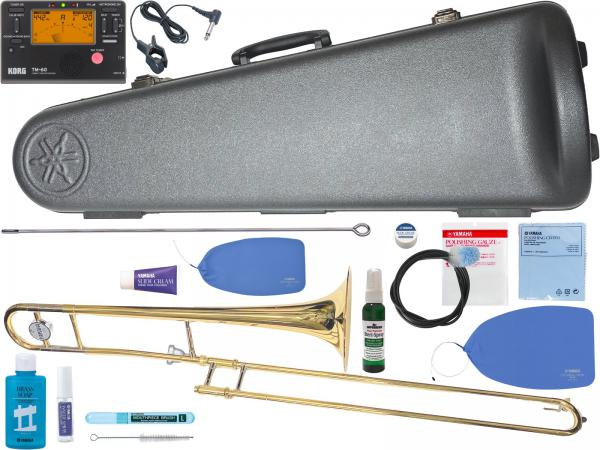 YAMAHA ( ヤマハ ) YSL-354 テナートロンボーン 新品 日本製 管楽器 細管 B♭ トロンボーン 初心者 スライド式 本体 Tenor Trombones 【 YSL354 セット C】