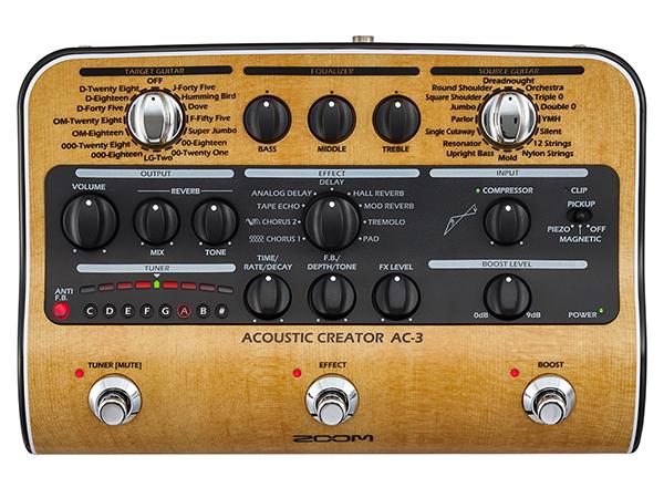 ZOOM ( ズーム ) AC-3 Acoustic Creator 【アコースティックギター プリアンプ 】