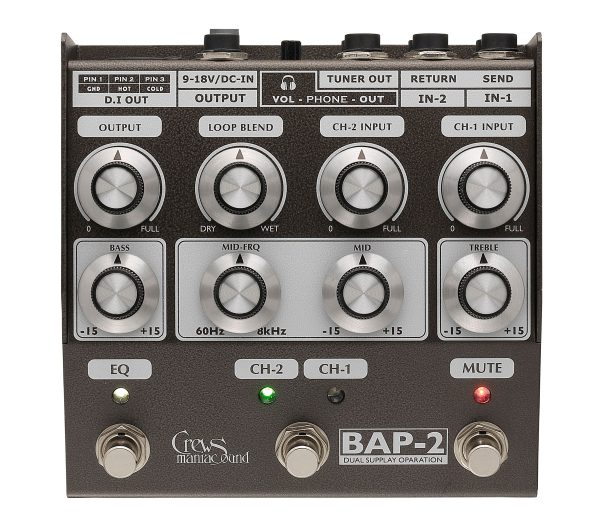 Crews Maniac Sound ( クルーズ ) BAP-2 Bass Foot Preamp
