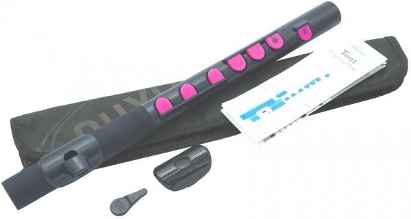 NUVO ( ヌーボ ) TooT ブラック ピンク N420TBPK トゥート プラスチック製 フルート系 横笛 管楽器 黒色 Black Pink 赤系 本体 BK/PK 防水 よこ笛