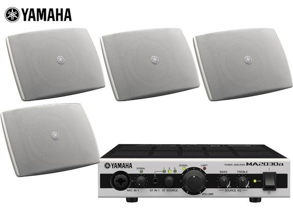 YAMAHA ( ヤマハ ) VXS3FW ホワイト (2ペア) 天井吊り下げ/壁面取付 LOWセット(MA2030a)