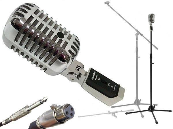 Superlux ( スーパーラックス ) PRO-H7F 三脚マイクスタンドSET(フォーン-XLR)  ◆  人気のあるガイコツタイプのマイクとストレートにもなるマイクスタンドのセット