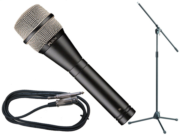 Electro-Voice ( EV エレクトロボイス ) PL80a TAMAブラックマイクスタンドSET (フォーン-XLR)