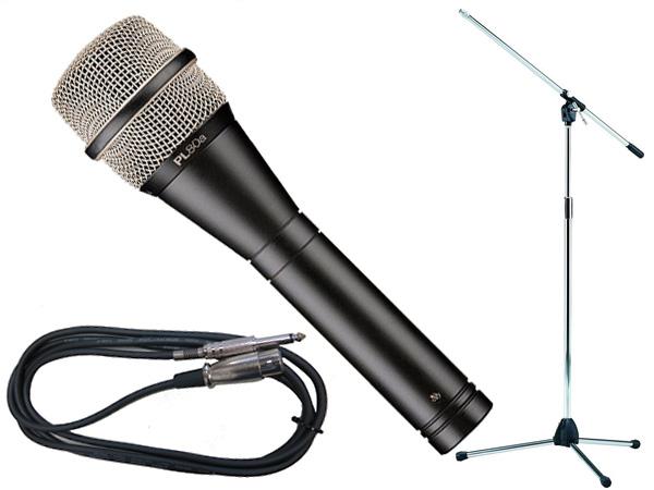 Electro-Voice ( EV エレクトロボイス ) PL80a TAMAシルバーマイクスタンドSET (フォーン-XLR)