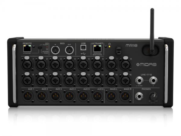 MIDAS ( マイダス ) MR18  ◆  18ch入力、デジタルコンソール、iPad/Android タブレットでコントロールするミキサー