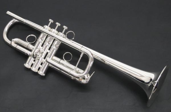 Brasspire Unicorn ( ブラスパイア ユニコーン  ) BPTRC-1000S C管 トランペット 銀メッキ Cトランペット 管楽器 本体 C Trumpet 125mm レッドブラス製ベル シルバーメッキ