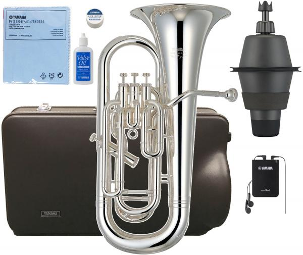 YAMAHA ( ヤマハ ) WEB限定 調整品 YEP-621S ユーフォニアム 新品 銀メッキ 4ピストン 太管 サイドアクション 日本製 管楽器 【 YEP621S セット B】一部送料追加