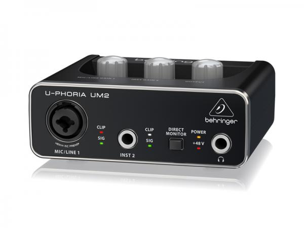 BEHRINGER ( ベリンガー ) UM2 U-PHORIA  ◆  2 in x 2out  USBオーディオインターフェース  XENYXマイクプリ1ch搭載