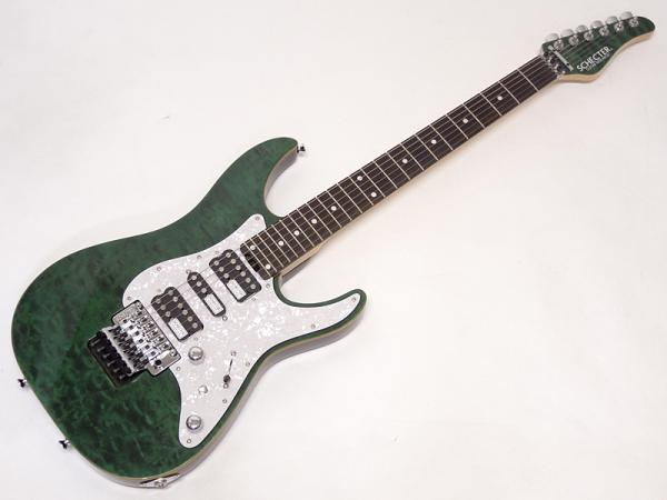 SCHECTER ( シェクター ) SD-2-24-AL / See-Thru Green / Rosewood Fingerboard
