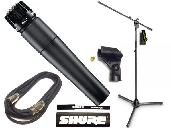 SHURE ( シュア ) SM57-LCE Gravity三脚マイクスタンドセット (XLR-XLR 5メートルケーブル同梱)