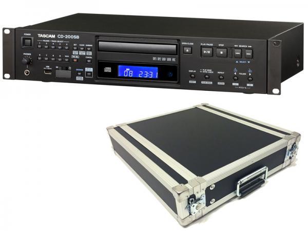 TASCAM ( タスカム ) CD-200SB と 国産2Uラックケースセット ◆ SDカード/ USBメモリ対応 業務用 CDプレーヤー