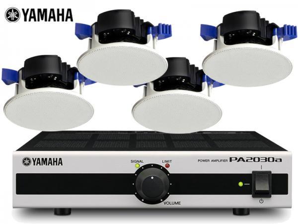 YAMAHA ( ヤマハ ) NS-IC400 (2ペア) + PA2030a 天井埋め込み 店舗 BGMセット