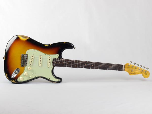 Fender Custom Shop 62 Stratocaster Relic Faded 3-Tone Sunburst