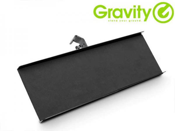Gravity ( グラビティー ) GMATRAY2 ◆ マイクスタンド用トレイ  長方形のトレイは楽器小物等を置くのに便利 マイクスタンドに取り付けるトレイ型アダプタ