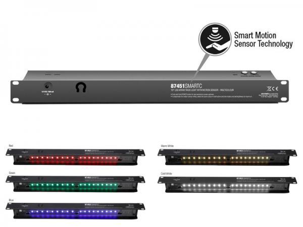 adam hall ( アダムホール ) 87451SMART C  ◆ モーションセンサーラックライト  EIA19インチラック用 1U LEDライト ACアダプター付属