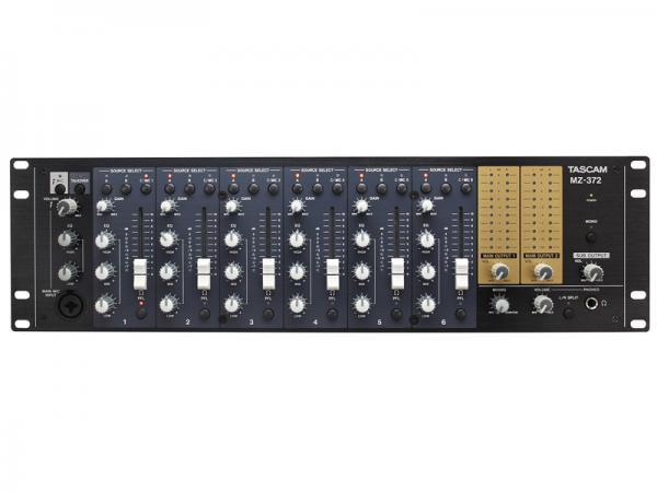 TASCAM ( タスカム ) MZ-372 ◆ 様々な入力ソースを 1 台で集中管理可能な業務用ミキサー  2ゾーンに対応