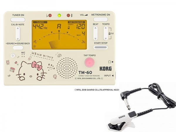 KORG ( コルグ ) TM-60-SKTとCM-300-WHBK アウトレットセット 【ハローキティ チュナー・メトロノーム コンタクトマイク アウトレット 特価品 】