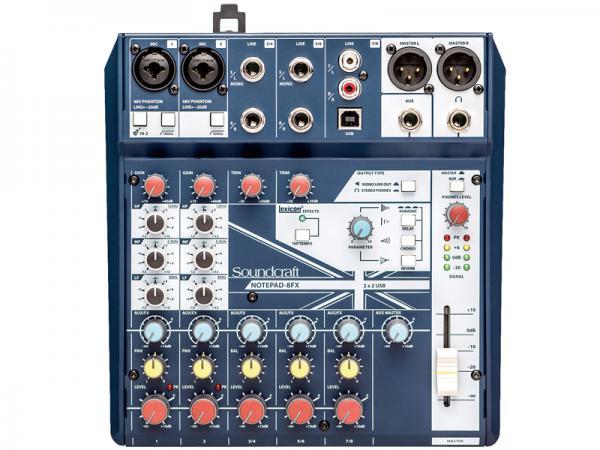 SOUND CRAFT ( サウンドクラフト ) Notepad 8FX  ◆ 8ch小型ミキサー エフェクター搭載 PCとUSB接続でオーディオインターフェースとしても使用できます