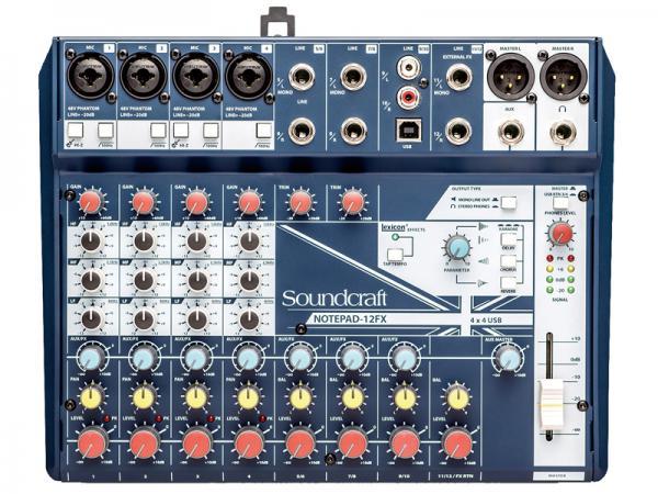 SOUND CRAFT ( サウンドクラフト ) Notepad 12FX  ◆ 12ch小型ミキサー エフェクター搭載 PCとUSB接続でオーディオインターフェースとしても使用できます