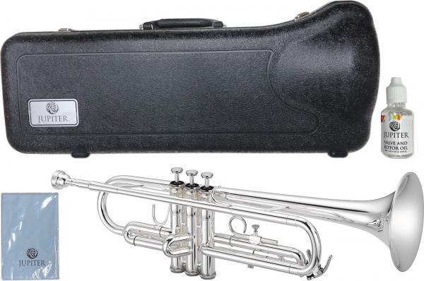 JUPITER  ( ジュピター ) JTR500S トランペット 銀メッキ 管楽器 本体 シルバー カラー B♭ JTR-500 Trumpet 北海道 沖縄 離島不可