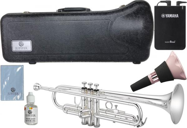 JUPITER  ( ジュピター ) JTR500S トランペット 新品 銀メッキ 管楽器 B♭ シルバー JTR-500 silver Trumpet サイレントブラス SB7XP セット C 北海道 沖縄 離島不可