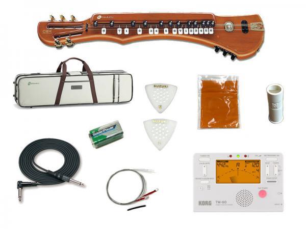 SUZUKI ( スズキ ) こはくソプラノ チューナーセット 電気大正琴 エレキタイプ 5絃