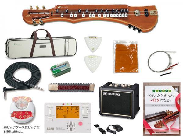 SUZUKI ( スズキ ) こはくソプラノ 教本 チューナー アンプ ミュート ピックケース セット 電気大正琴