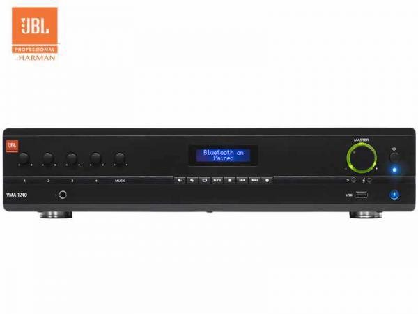 JBL ( ジェイビーエル ) VMA 1240  ◆ モノラル パワーアンプ  1ch 240W  ( ハイ・ロー兼用 )  Bluetooth受信機内蔵 ストリーミング再生が可能