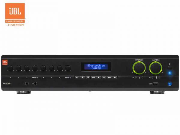 JBL ( ジェイビーエル ) VMA 260 ◆ 2チャンネル パワーアンプ   60W+60W  ( ハイ・ロー兼用 ) Bluetooth受信機内蔵 ストリーミング再生が可能