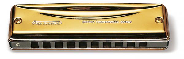 SUZUKI ( スズキ ) C調 Pro master MR-350G プロマスター ゴールド 10穴 ブルースハーモニカ テンホールズ 単音 ハーモニカ アルミボディ メジャー ダイアトニック