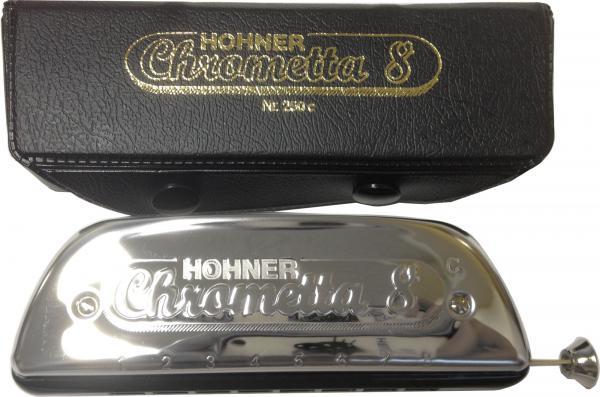 HOHNER ( ホーナー ) クロマチックハーモニカ クロメッタ8 250/32 8穴 2オクターブ C調 樹脂 ボディ Chrometta 8 楽器 スライド式 ハーモニカ 初心者