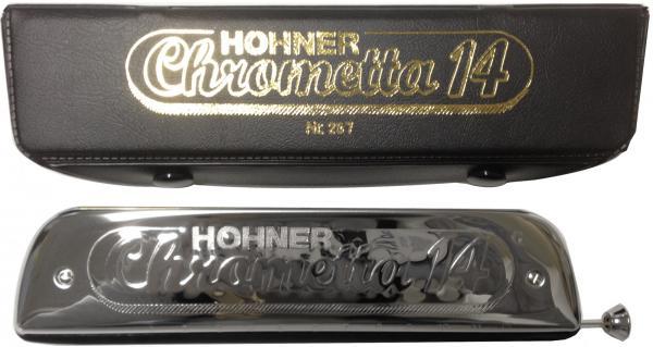 HOHNER ( ホーナー ) クロメッタ14 クロマチックハーモニカ 14穴 C調 スライド式 3オクターブ半 ハーモニカ 257/56 Chrometta 14 楽器 Chromatic Harmonica