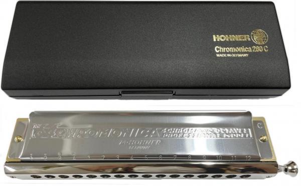 HOHNER ( ホーナー ) Chromonica 280 クロマチックハーモニカ 280/64 16穴 4オクターブ 樹脂ボディ ハーモニカ C調 スライド式 リード 楽器 クロス配列 Chromatic