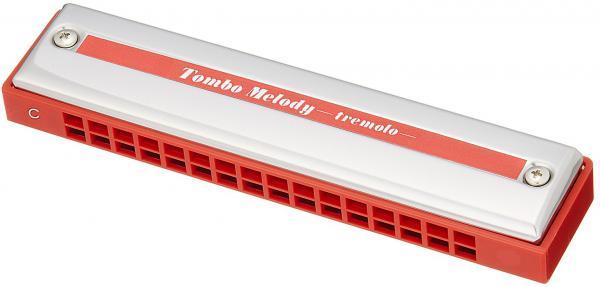 TOMBO ( トンボ ) No.2116 Tremolo 16 複音ハーモニカ 16穴 赤い 樹脂ボディ ちいさな複音 ハーモニカ トレモロハーモニカ メジャー C調  楽器 ハープ harmonica