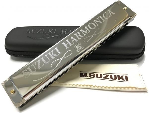 SUZUKI ( スズキ ) 初心者 複音ハーモニカ スズキスペシャル SU-21SP C調 教本 「3時間で吹ける...複音ハーモニカ入門」 日本製 トレモロハーモニカ 管理品番:SU-21+3時間