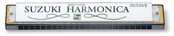 SUZUKI ( スズキ ) SU-24 オクターブハーモニカ 24穴 C調 ダブルリード 複音ハーモニカ リード 楽器 SU24 Octave Harmonica ハーモニカ メジャー