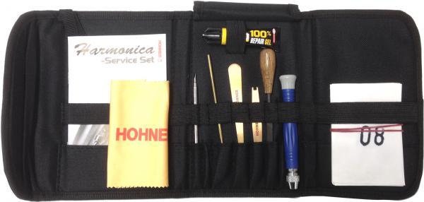 HOHNER ( ホーナー ) ハーモニカ 修理 工具 MZ99340 メンテナンスキット リード調整 バルブ 張替え やすり バルブセット 接着剤 レンチ サービス ツール セット