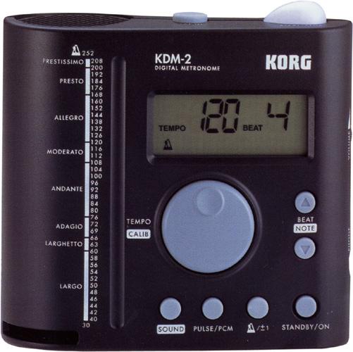 KORG ( コルグ ) KDM-2 デジタル メトロノーム 円筒型共鳴管スピーカー 大音量 ボリューム調整可 電子メトロノーム 液晶 テンポを表示 KDM2