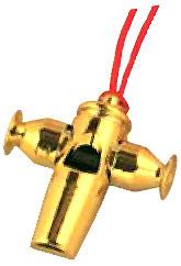 PICKBOY ( ピックボーイ ) SW-60/G サンバホイッスル ゴールド サンバ笛 十字型 ホイッスル 金色 Samba whistle gold  笛 ふえ アピート パーカッション SW-60